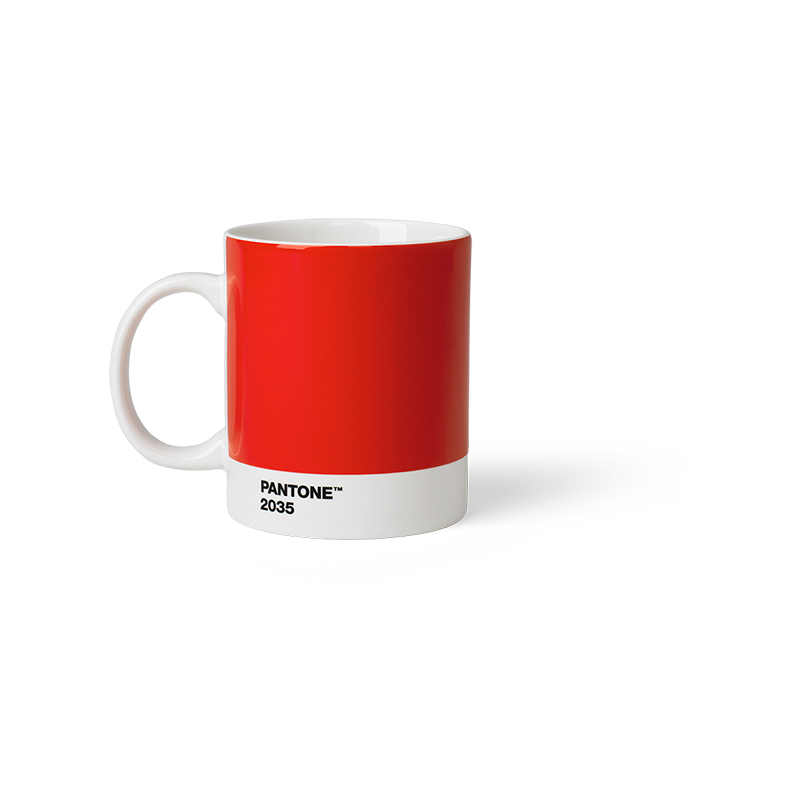Pantone Porzellan-Becher red 2035