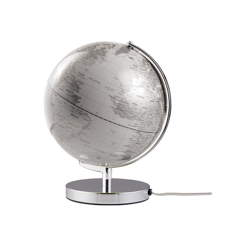 Globus Terra White mit Beleuchtung