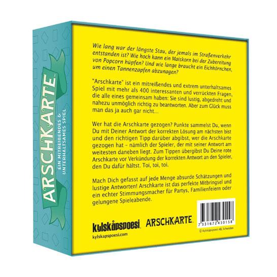 ARSCHKARTE - Ein mitreißendes & unterhaltsames Spiel