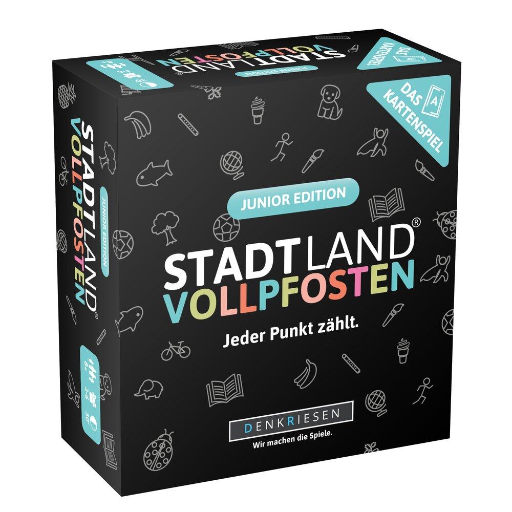 Stadt Land Vollpfosten  - Das Kartenspiel Junior Edition