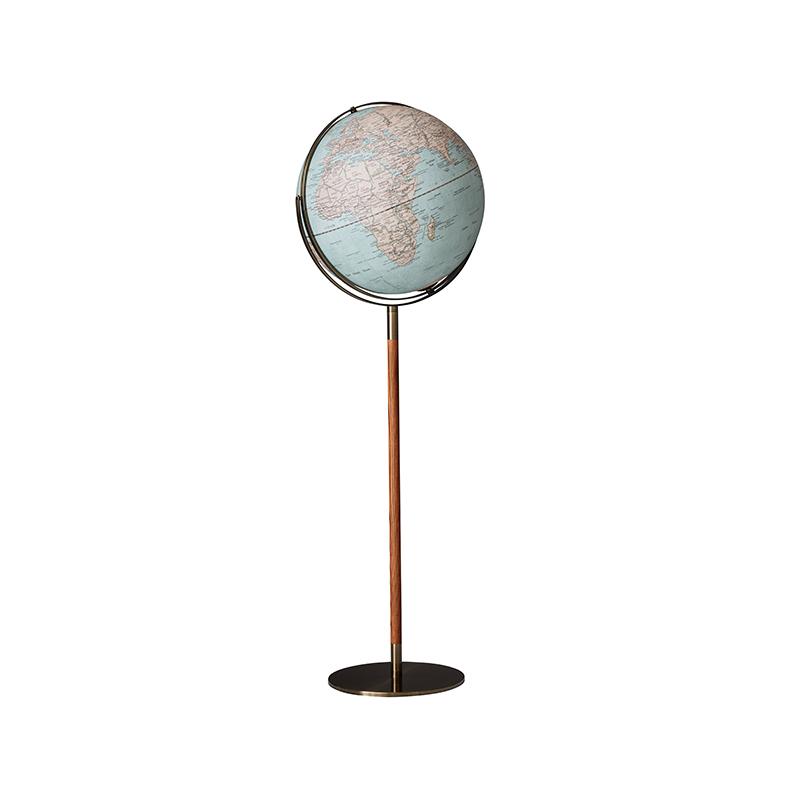 Globus  Antique mit Reliefkarte und Standfuß