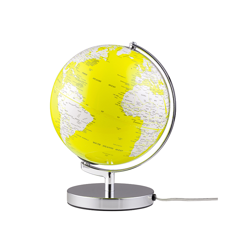 Globus Terra Yellow mit Beleuchtung