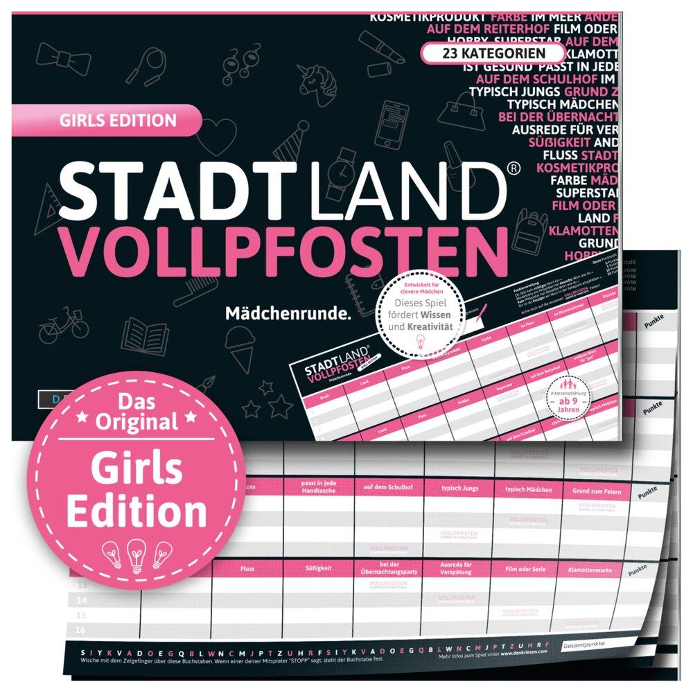 Stadt Land Vollpfosten - Girls Edition