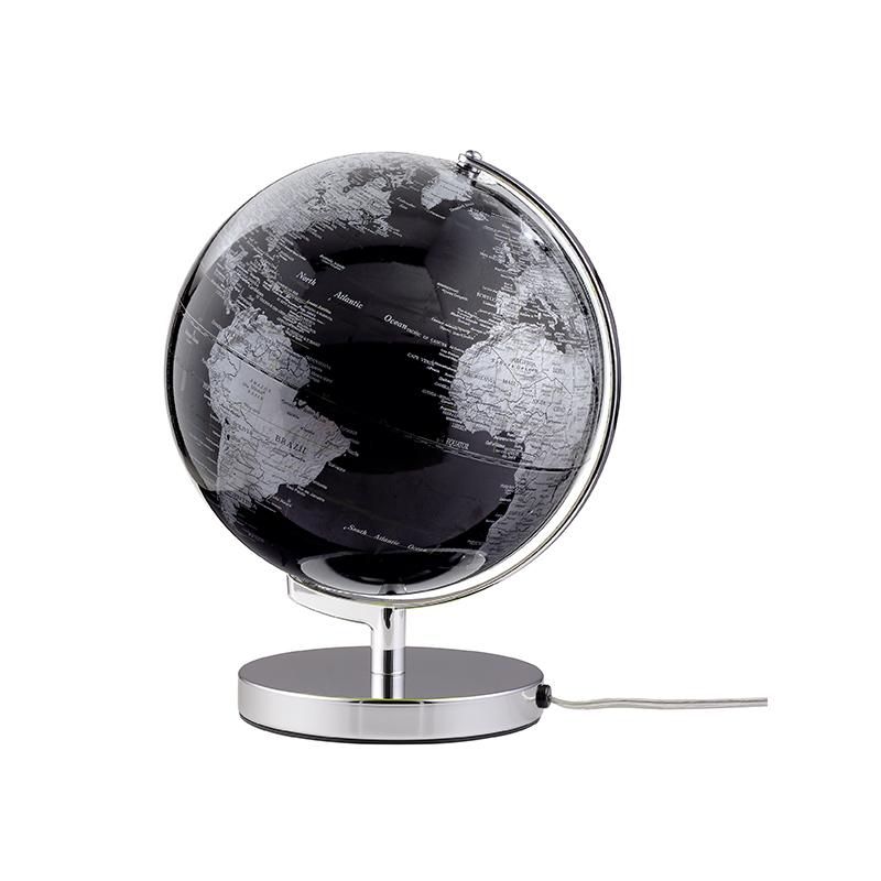 Globus Terra  Black mit Beleuchtung
