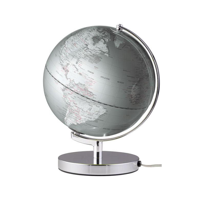 Globus Terra  Silver mit Beleuchtung