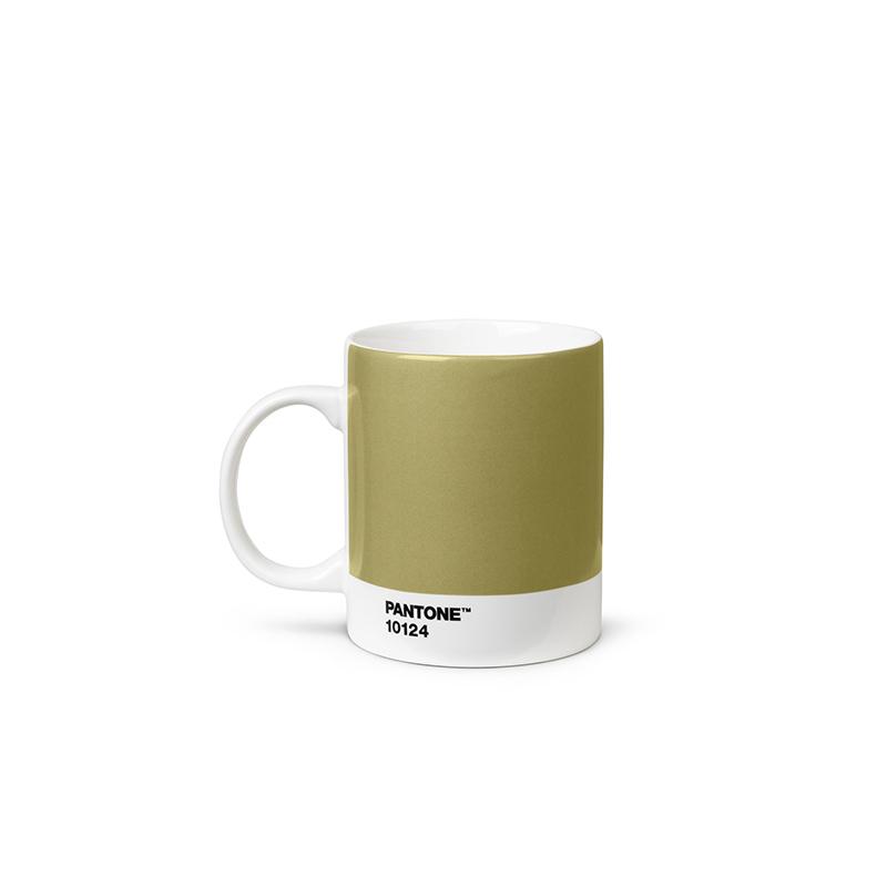 Pantone Porzellan-Becher gold 10124