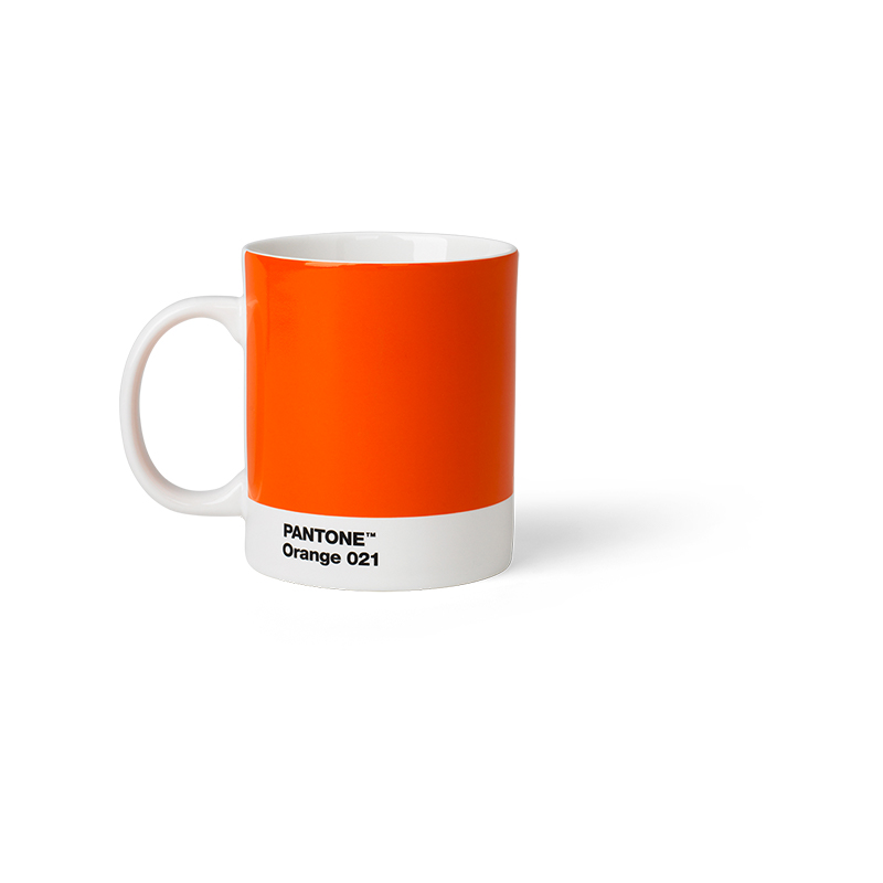 Pantone Porzellan-Becher orange 21