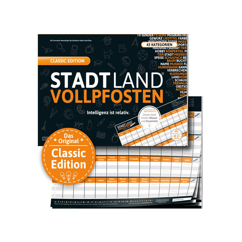 Stadt Land Volllpfosten - Classic Edition
