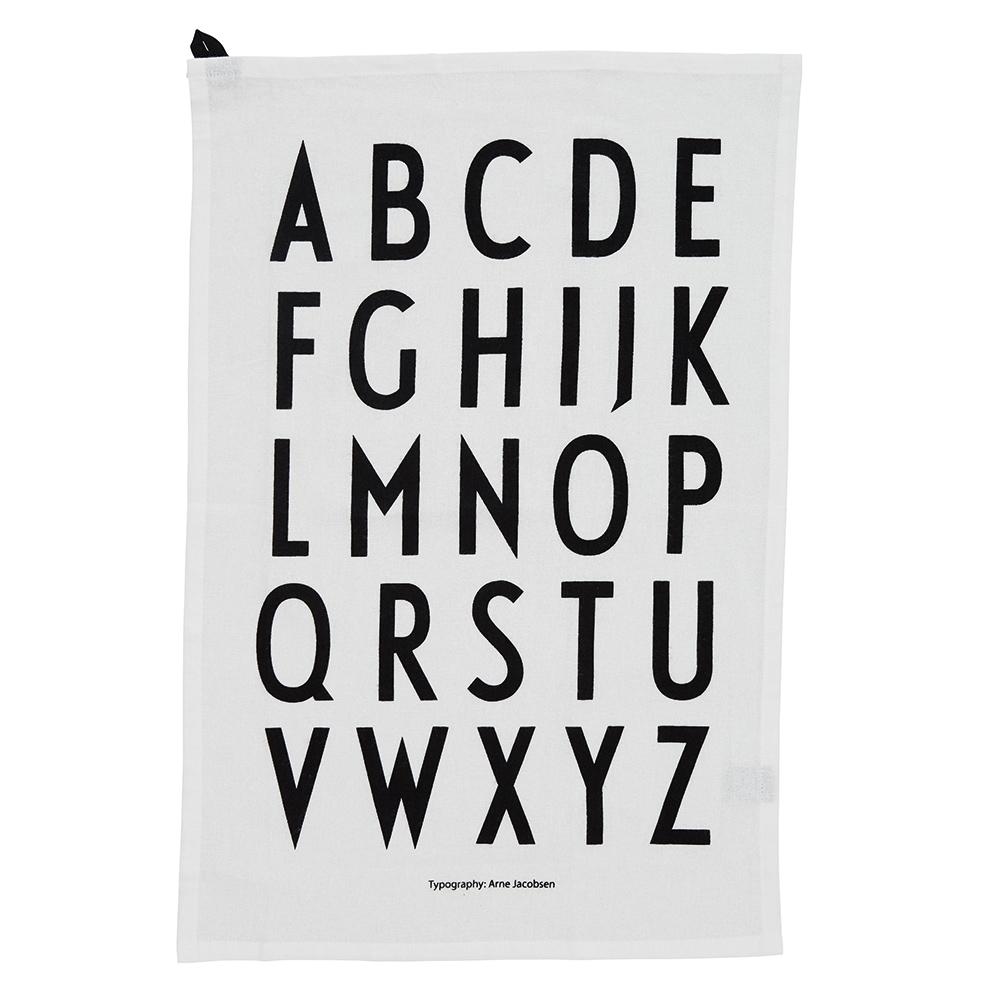 Design Letters Geschirrtuch A-Z weiss