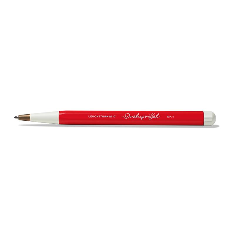 Leuchtturm Drehgriffel Nr. 1 Designkugelschreiber, rot
