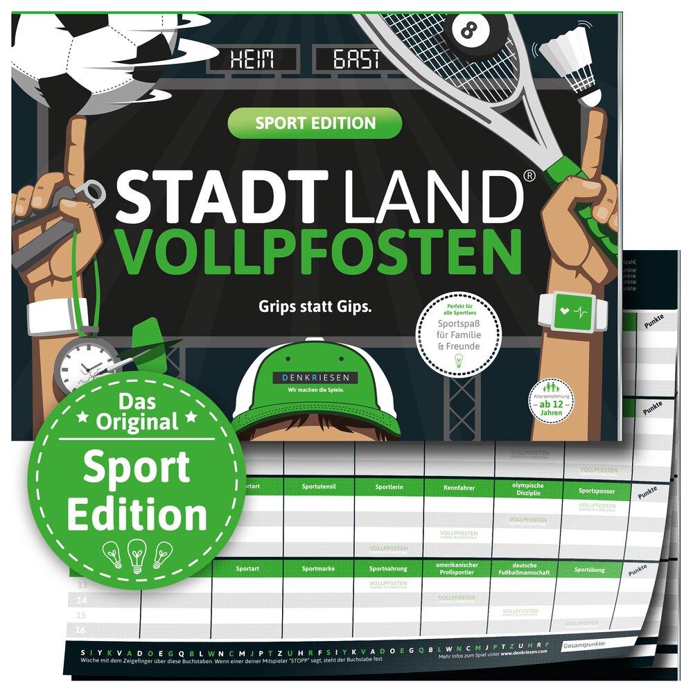 Stadt Land Vollpfosten - Sport Edition