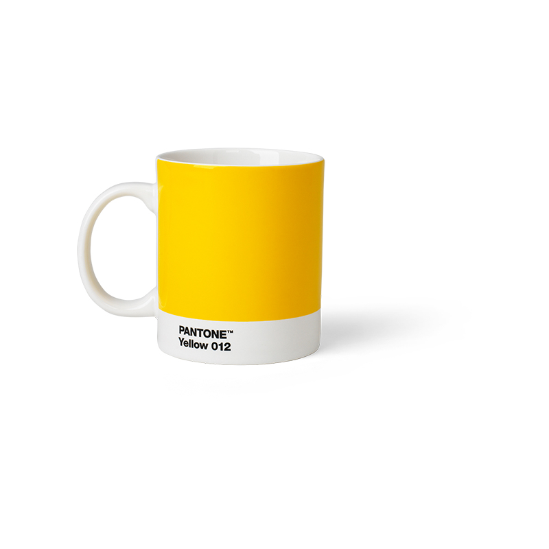 Pantone Porzellan-Becher yellow 012