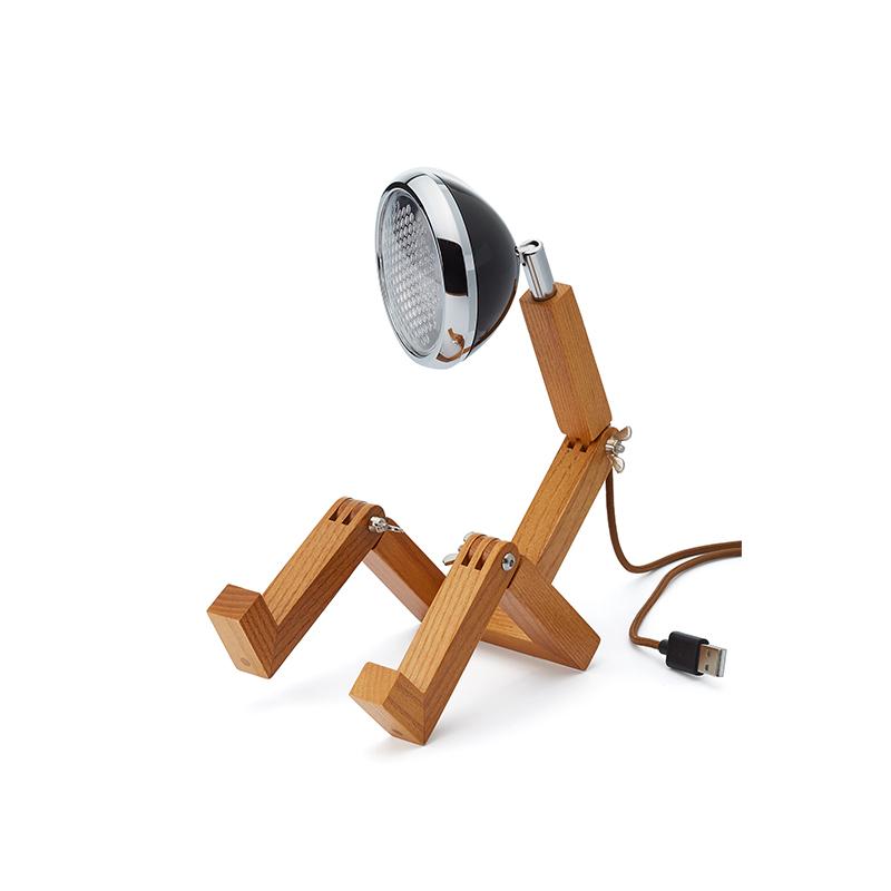 Mini Mr. Wattson, Tischlampe LED - Schwarz