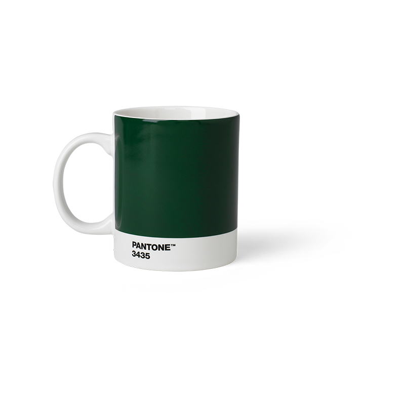 Pantone Porzellan-Becher dark green 3435