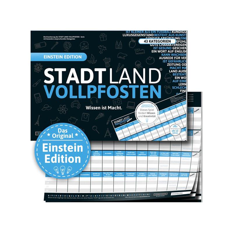 Stadt Land Vollpfosten - Einstein Edition