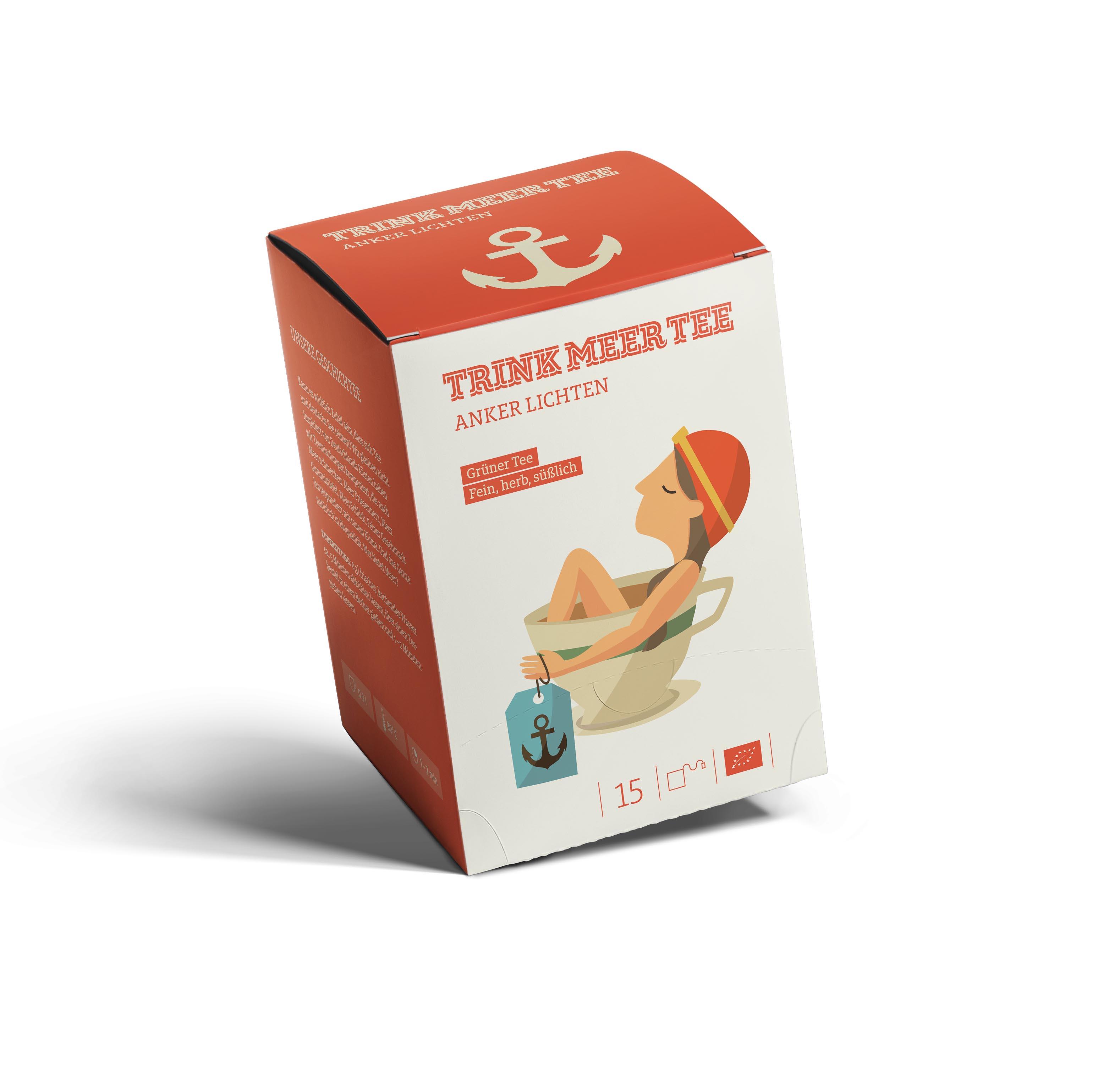 """Teebeutel """"Anker Lichten"""" - Grüner Tee TRINK MEER TEE"""