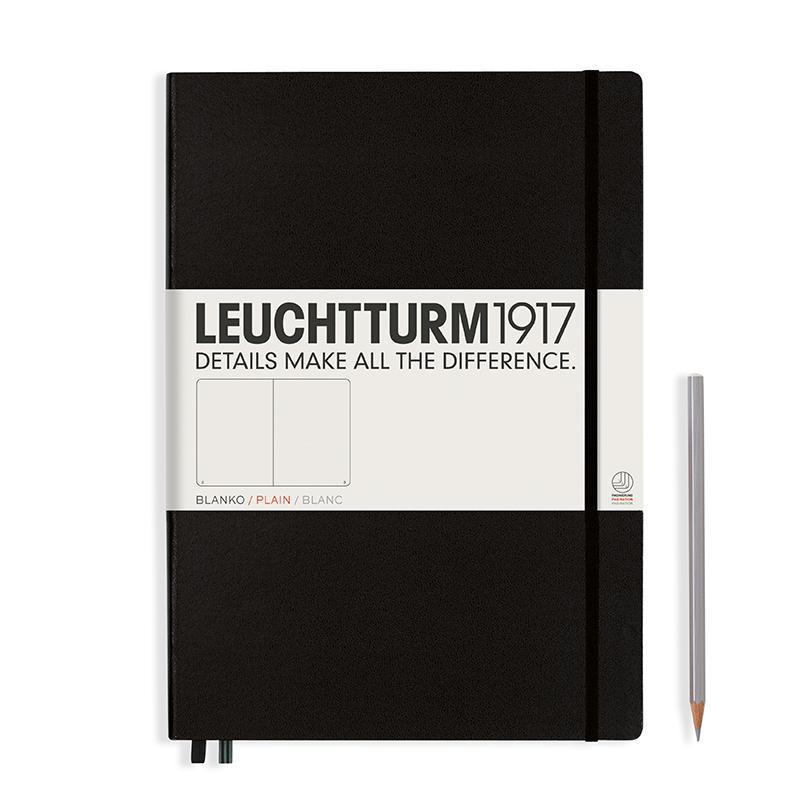 Leuchtturm Notizbuch Master Classic (A4+) Hardcovereinband schwarz, blanko