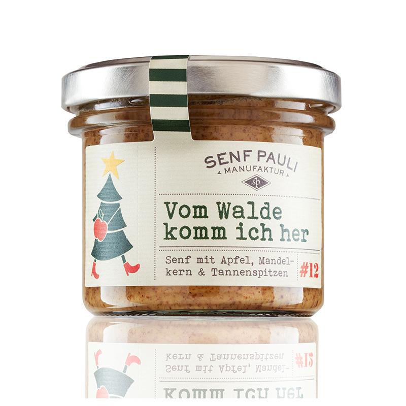 """Senf """"Vom Walde komm ich her"""" mit Apfel, Mandelkern & Tannenspitzen von Senf Pauli"""