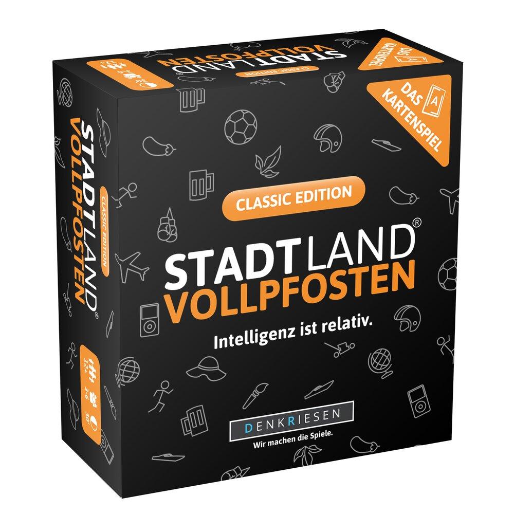 Stadt Land Vollpfosten - Das Kartenspiel Classic